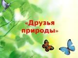 Экологический досуг оздоровительной направленности «Друзья природы»