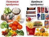 Вредные и полезные продукты для детей