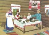 В русской избе тепло на душе